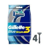 Gillette Blue Simple3Razors 4 Pieces