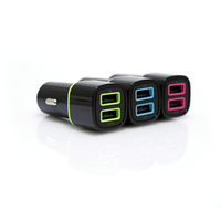 Iconz USB Car Charger 2.4A Black/Pink  CC23KP