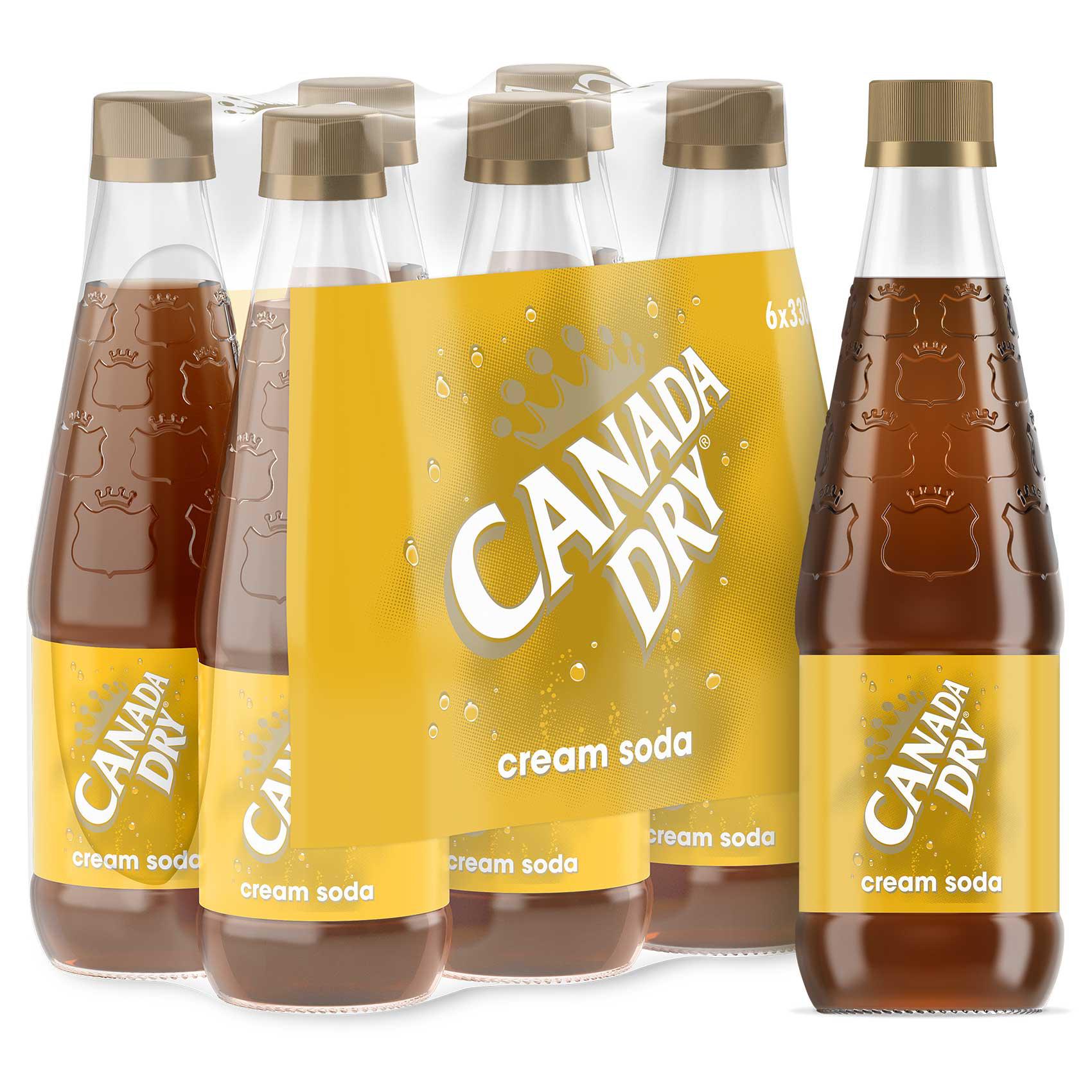 CANADA DRY CREAM SODA NRB 330MLX6