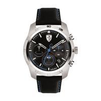 Scuderia Ferrari Men's Watch Primato Analog Black Dial Black Nylon Strap Band 44mm Case