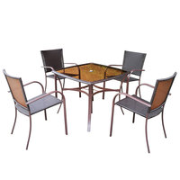 Carrefour Juliet Wicke Dining Set 5Pc