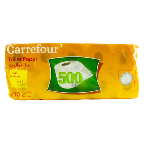 Carrefour-Family-Toilet-Paper-500's-x10