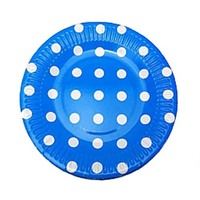 Plate Blue With Dots 100 17715
