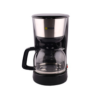 MEGA Coffee Maker CM4313A-CB 1.25 Liter Black And Stainless Steel