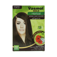 Vasmol Gold Herbal Dark Brown 3 Henna Hair Colour 6X10G