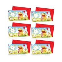 Disney Invitation Card Winnie & Piglet 6 Pieces