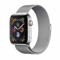 Apple Watch Series-4 GPS + Cellular 40mm Stainless Steel Case with Milanese Loop(MTVK2AE/A)