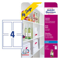 Avery Bottle Label A4 Size MD4001