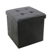 Storage Puff With 4 Butons&Design(Pvc)