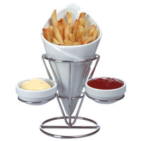 Shallow French Fries Holder With 2Dips