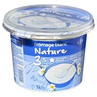 Carrefour White Soft Cheese 20% Fat 1kg