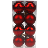 Balls Set Shiny/Matt 16Pcs 6Cm Red