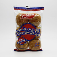 Fonte sesame burger bun medium bread 6 pieces - 400 g