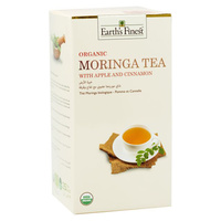 Earth's Finest Organic Moringa Tea Apple & Cinnamon 37.5g