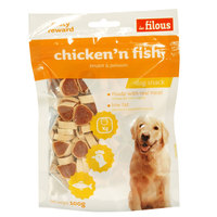 Les Filous Chicken n' Fish Dog Snack 100g