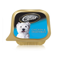 Cesar® Chicken and Vegetables Wet Dog Food Foil Tray 100g