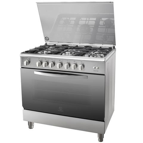 Indesit-90X60-Cm-Gas-Cooker-I95T1CXEX-5Burners