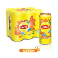 Lipton Peach Ice Tea Drink Can 320ML X6
