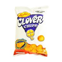 Leslie's Clover Chips Cheesier Flavored Corn Snack 145g