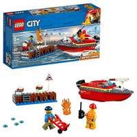 Lego City Dock Side Fire Building Kit