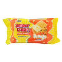 Croley Foods Sunflower Crackers Orange Flavor Cream Sandwich 190g