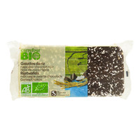 Carrefour Bio Organic Rice Biscuits With Dark Chocolate And Grated With Coconut 90g