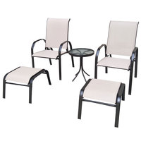 Toledo Relax Textilene Set 5Pcs  (Delivered In 7 Business Days)