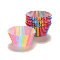 Colored Cupcake Papers In Colored Box