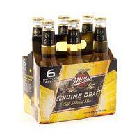 Miller Beer Bottle 33CL X6