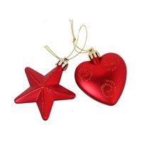 Christmas Hanging Decoration Assorted 2 Pieces Red
