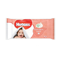 Huggies Wipes Soft Skin Quad 56 Sheets 2+2 Free