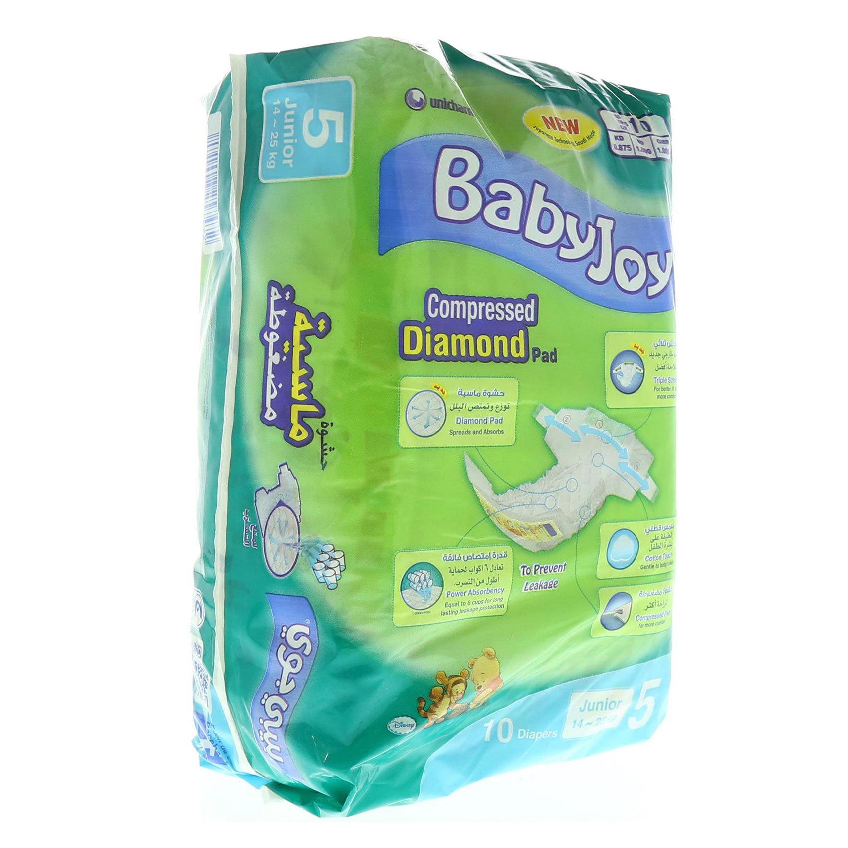 BABY JOY DIAPERS - JUNIOR 10'S