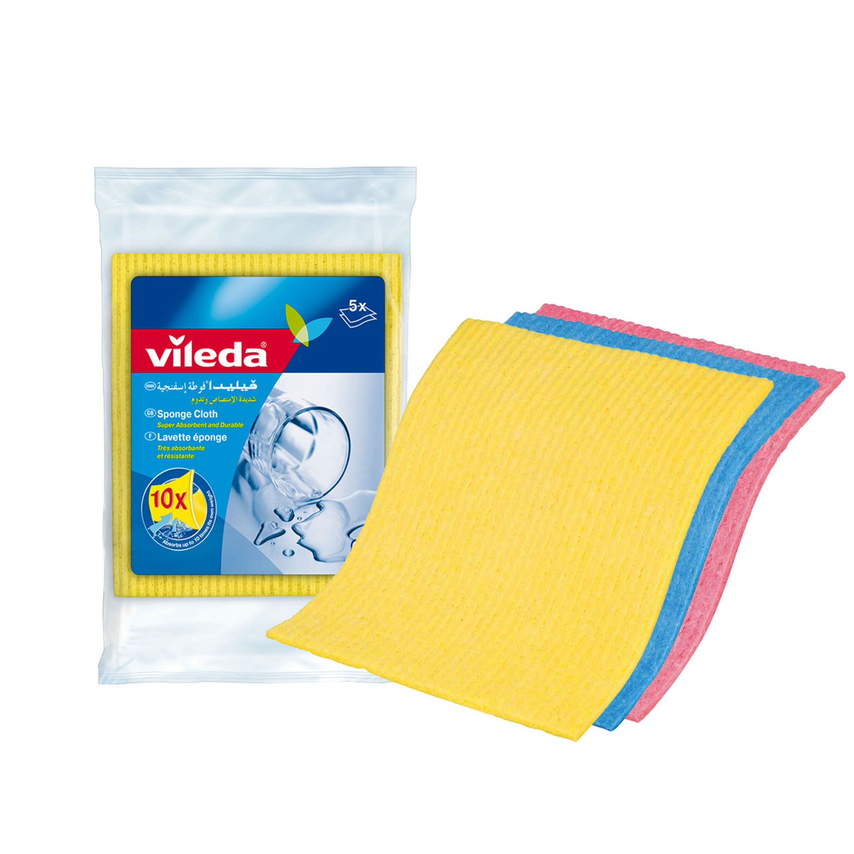 VILEDA SPONGE CLOTH 5PC