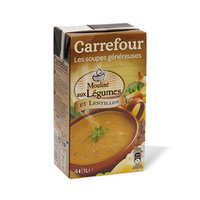 Carrefour Lentil And Vegetable Soup 1l