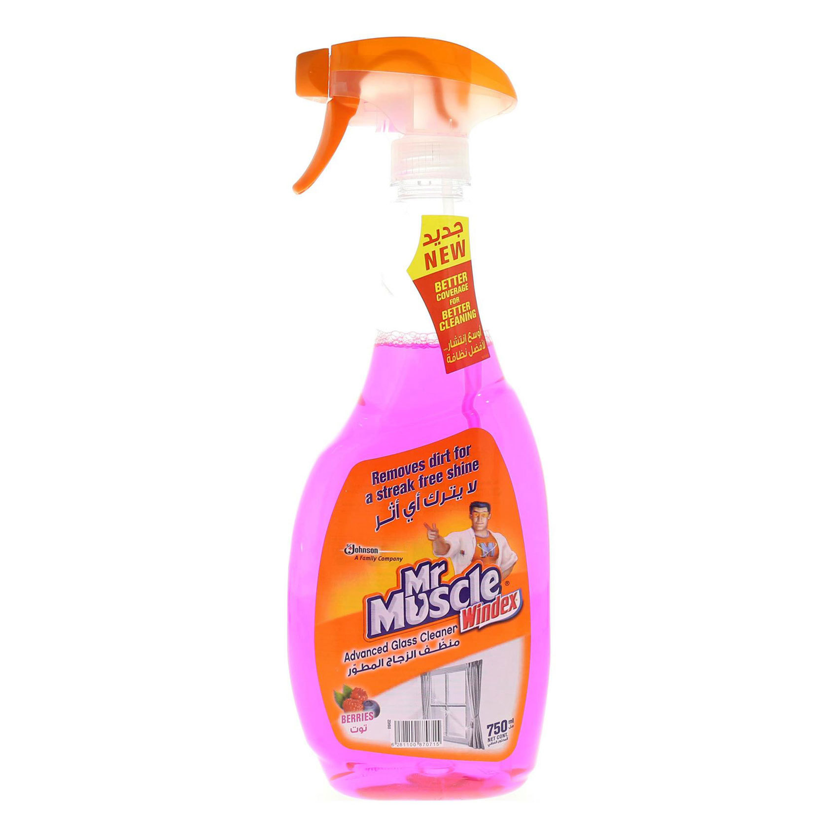 MR.MUSCLE GLASS BERRIES TRGGR 750ML
