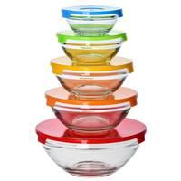 Glass Bowl with Lid 5pcs set