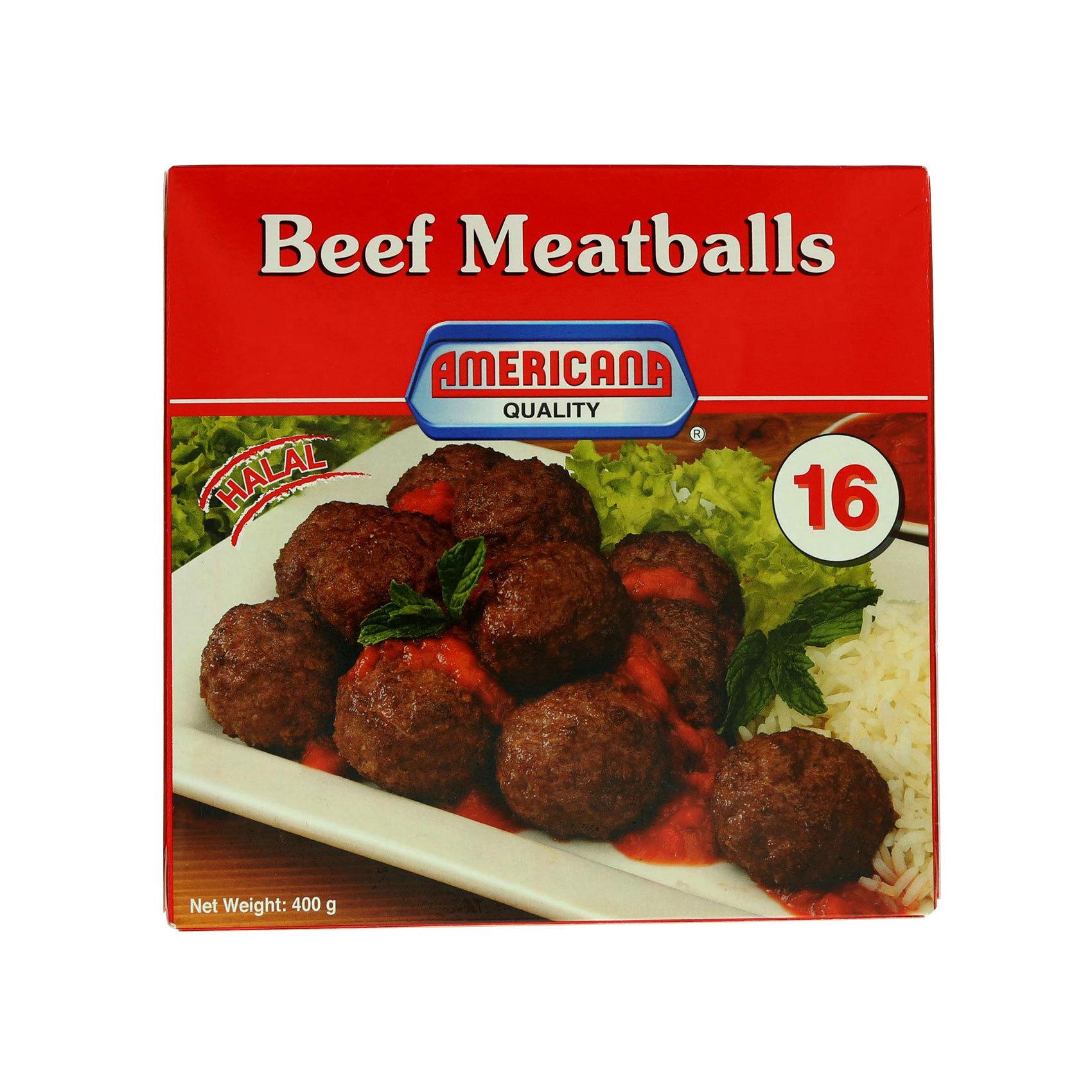 AMERICANA MEATBALLS BEEF 400G