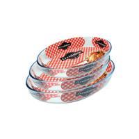 Ocuisine Oven Glass Oval 32x35x39 Cm 3 Pieces