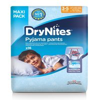 Huggies Dry Nites Pyjama Pants 3-5 Years Boy Maxi Pack 16 Count