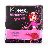 Kotex Ladies Pads Ultra Young Black 10 Napkins