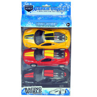 Racing World 3Pcs Car Friction Assorted
