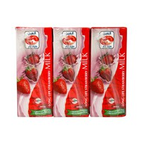 Al Ain Long Life Strawberry Milk 180ml x6