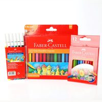 Faber-Castell Grip Crayon 12+Color Pencil H12+Fib Pen 6