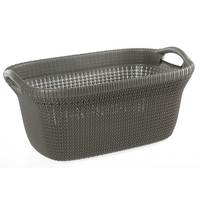 Knitting Laundry Basket-Brown