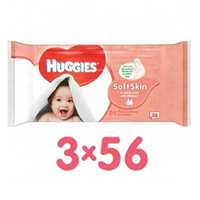 Huggies Baby Wipes Soft Skn 56 Wipes 3 Pieces