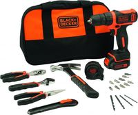 BLACK&DECKER Cordless Drill 10.8 Volt With 20 Pieces Accessories