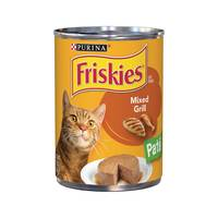 Purina Friskies  Wet Can Pate Mixed Grill Cat Food 368 g
