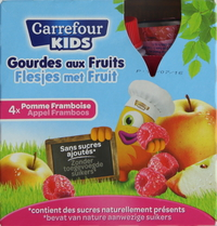 Carrefour Kids Apple/Raspberry Sauce 90g x4