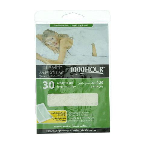 1000-Hour-30-Ultra-Thin-Wax-Strips-Fine-For-Medium-Hair