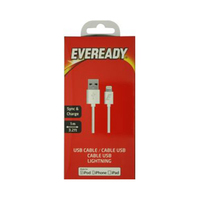 Eveready Lightning Cable Charge & Sync 1 Meter White